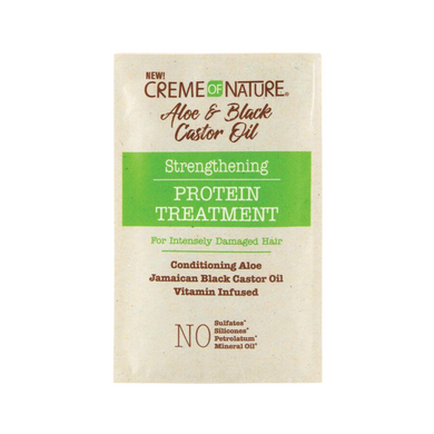 Creme Of Nature Aloe & Black Castor Oil Strengthening Protein Treatment 1.5oz