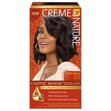 Creme Of Nature Exotic Shine Colour Soft Black 3.0