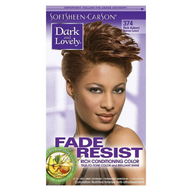 Dark & Lovely 374 Hair Colour Rich Auburn Kit