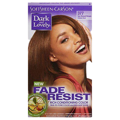 Dark & Lovely 377 Hair Colour Sun Kiss Brown Kit