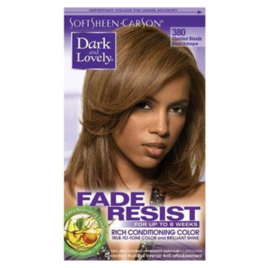 Dark & Lovely 380 Hair Colour Chestnut Blonde Kit
