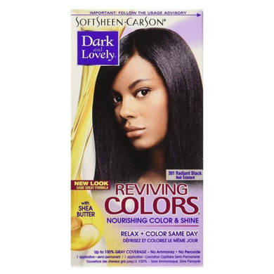 Dark & Lovely 391 Hair Colour Radiant Black Kit