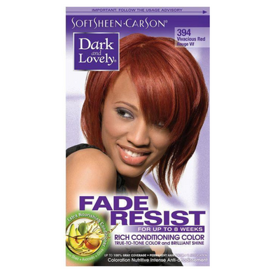Dark & Lovely 394 Hair Colour Vivacious Red Kit