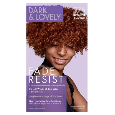 Dark and Lovely 376 Fade Resist Red Hot Rhythm Rich Conditioning Color