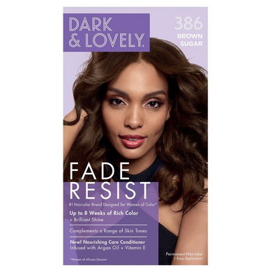 Dark and Lovely 386 Fade Resist Brown Sugar Rich Conditioning Color