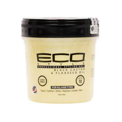 Eco Styler Black Castor & Flaxseed Oil Gel 8oz