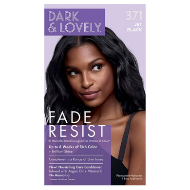 Dark & Lovely 371 Fade Resist Jet Black Rich Conditioning Color
