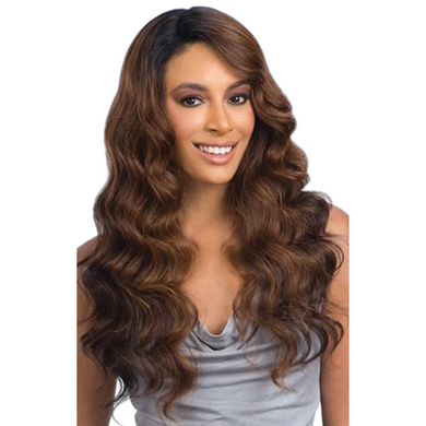FreeTress Equal Lace Front Brazilian Natural Collection Lace Deep Diagonal Part Wig – Natural Loose