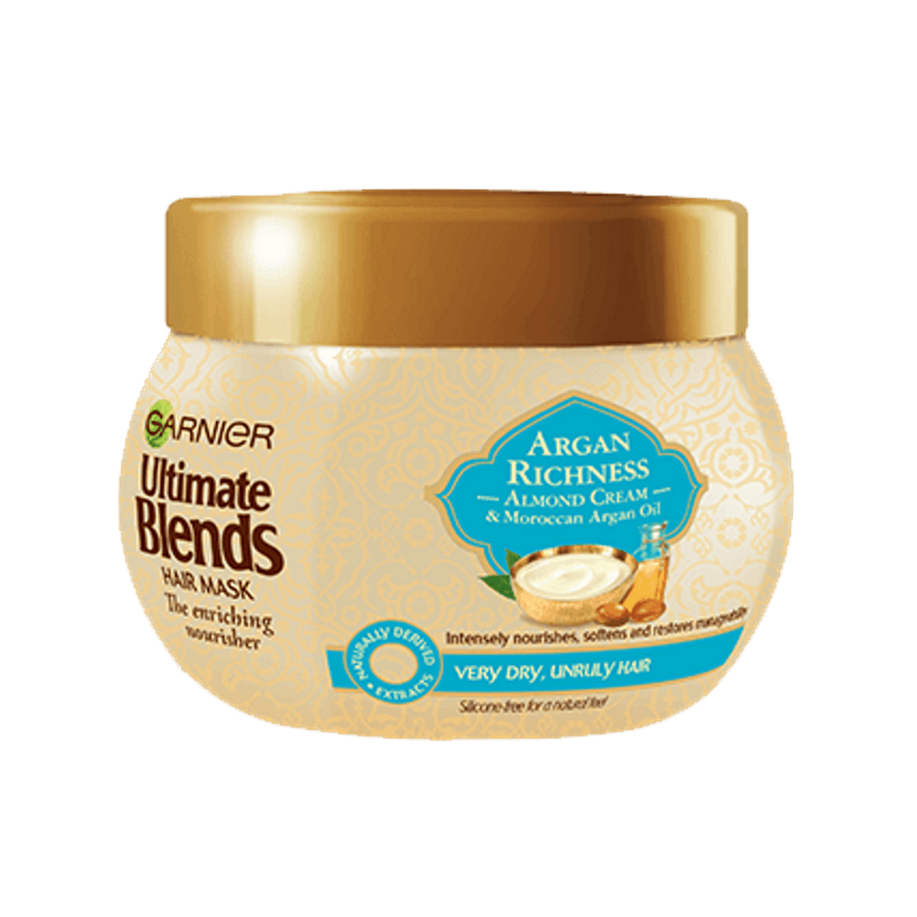 Garnier Ultimate Blends Argan Oil & Almond Cream Dry Hair Treatment Mask 300ml