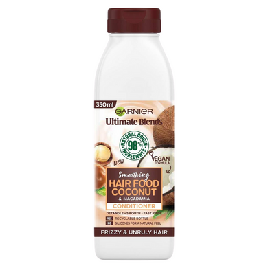 Garnier Ultimate Blends Smoothing Hair Food Coconut Conditioner 350ml