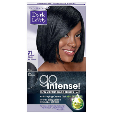 Dark and Lovely 21 Go Intense Original Black Ultra Vibrant Color