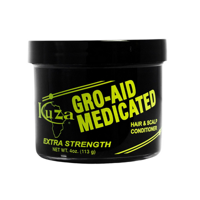 Kuza Gro Aid Medicated Extra Strength Hair and Scalp Conditioner 4oz