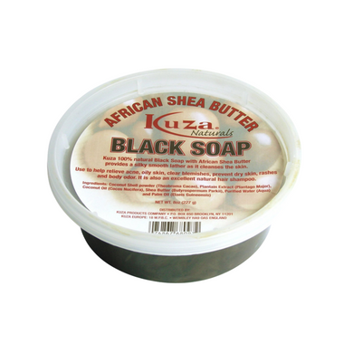 Kuza Naturals African Shea Butter Black Soap 8oz