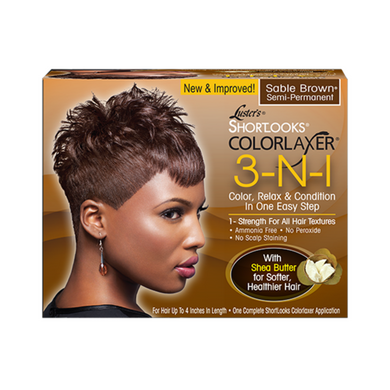 Luster's ShortLooks Colorlaxer 3in1 Brown Kit Semi-Permanent