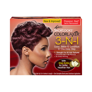 Luster's ShortLooks Colorlaxer 3in1 Passion Red Kit Semi-Permanent