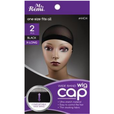 Ms. Remi Wig Cap one size fits all 2pcs – Black X-Long #4404
