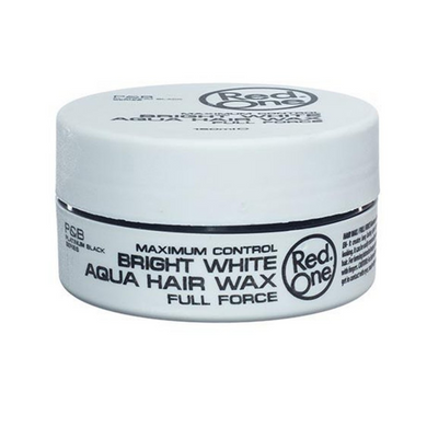 Red One Maximum Control Bright White Aqua Hair Wax Full Force 150ml