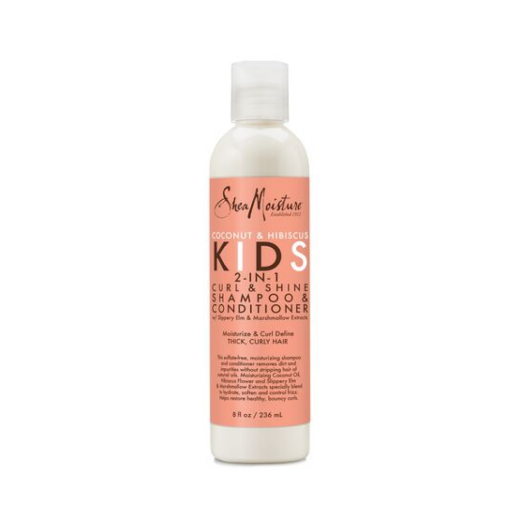 SheaMoisture Coconut & Hibiscus Kids 2-in-1 Curl & Shine Shampoo & Conditioner 8oz