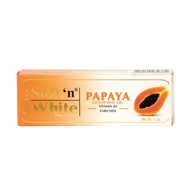 Swiss Soft'n White Papaya Lightening Gel Vitamin B3 Enriched Tube 30g