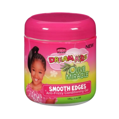 African Pride Dream Kids Olive Miracle Anti-frizzy Conditioning Gel Smooth Edges 6oz
