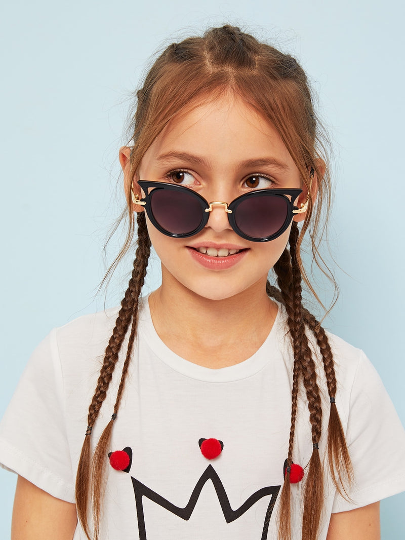 Kids Metal Detail Round Lens Sunglasses