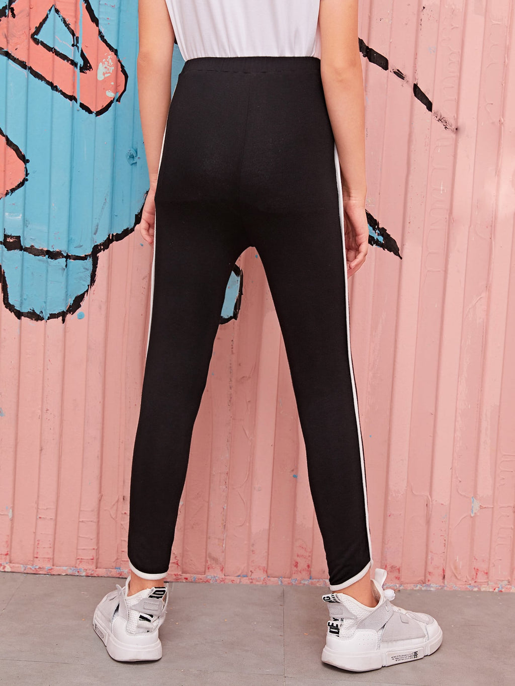 Girls Contrast Binding Pants