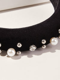 Toddler Girls Faux Pearl & Rhinestone Decor Headband
