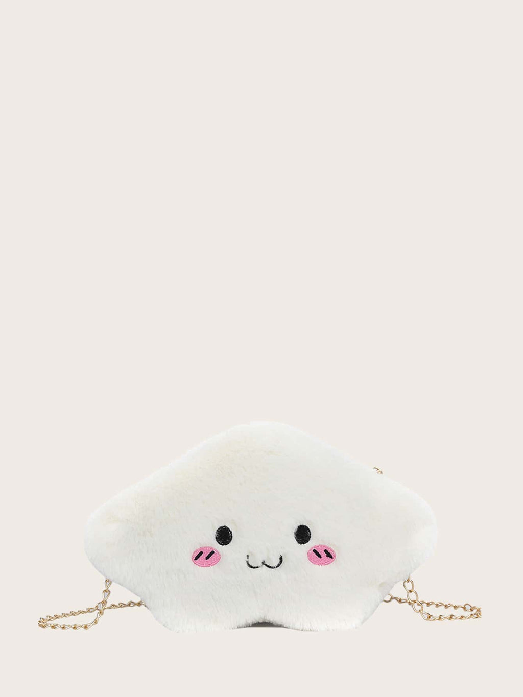Girls Embroidery Fluffy Chain Bag