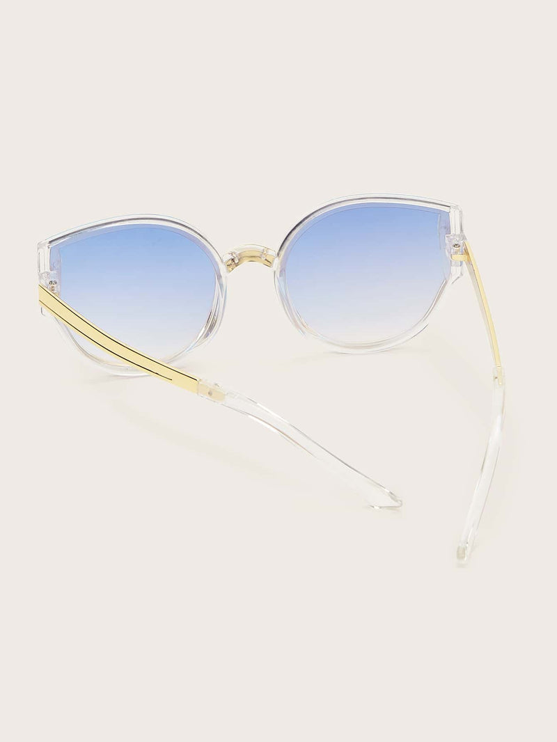 Kids Transparent Frame Tinted Lens Sunglasses