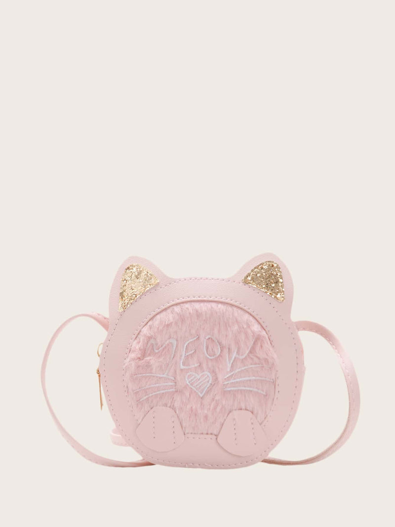 Girls Glitter Cat Ear Crossbody Bag - FD
