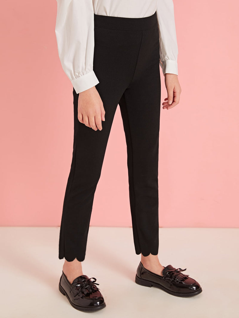 Girls Scallop Edge Fitted Pants - FD