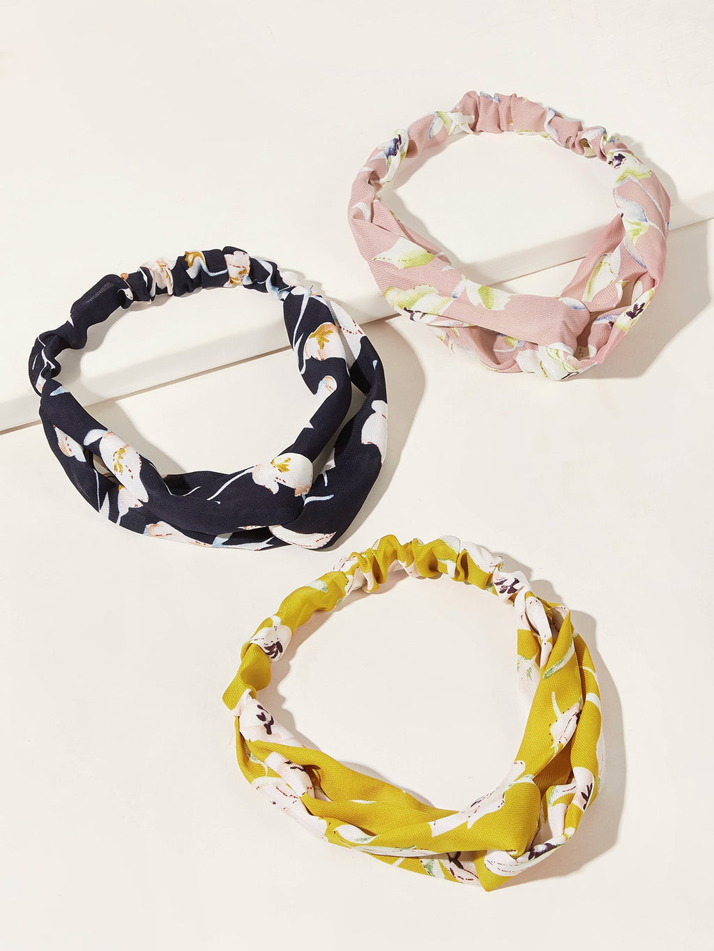3pcs Girls Flower Pattern Headband - FD