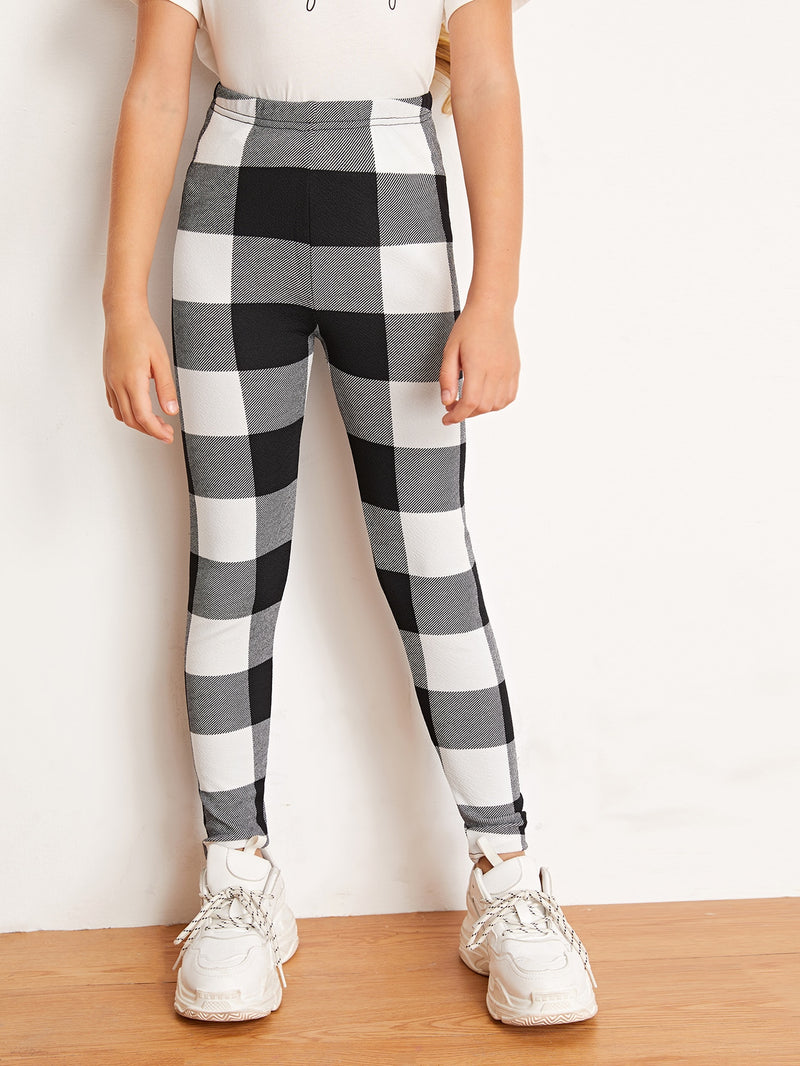 Girls Buffalo Plaid Leggings