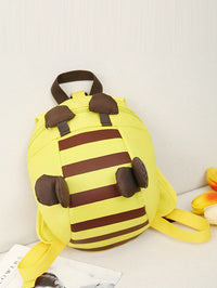 Kids Bee Design Striped Backpack