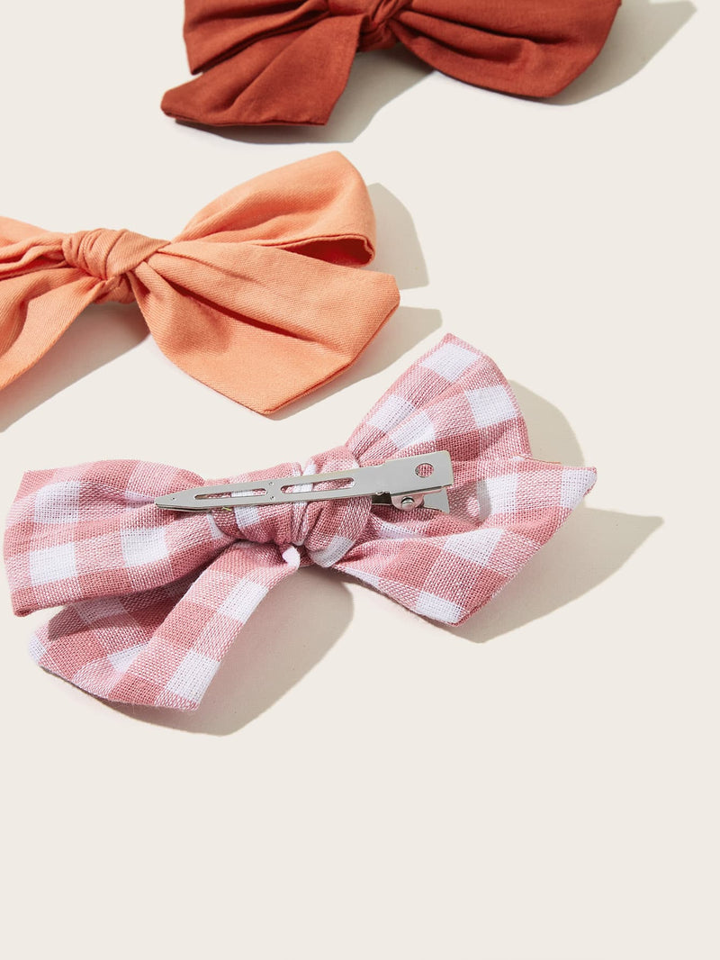 6pcs Toddler Girls Bow Design Hair Clip