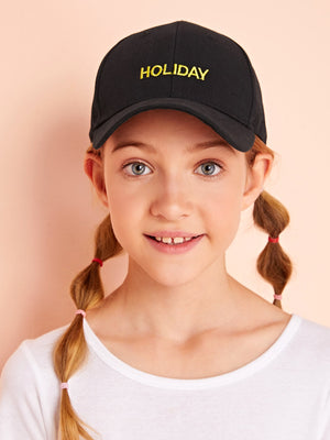 Kids Letter Embroidery Baseball Cap