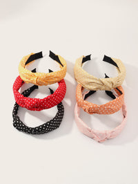 6pcs Toddler Girls Polka Dot Pattern Hair Hoop