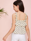 Girls Frill Strap Two Layer Polka-dot Top - FD