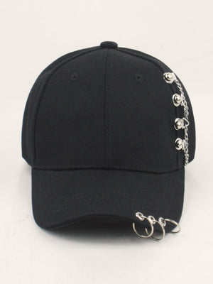 Kids Chain & Ring Decor Baseball Cap
