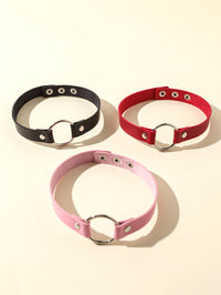 3pcs Girls Ring Decor Choker