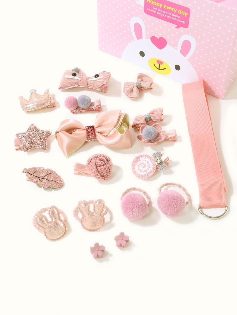 18pcs Toddler Girls Bow Decor Hair Accessory - FD