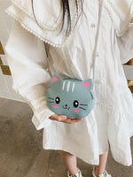 Girls Cat Shaped Crossbody Bag