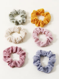 6pcs Girls Solid Scrunchie