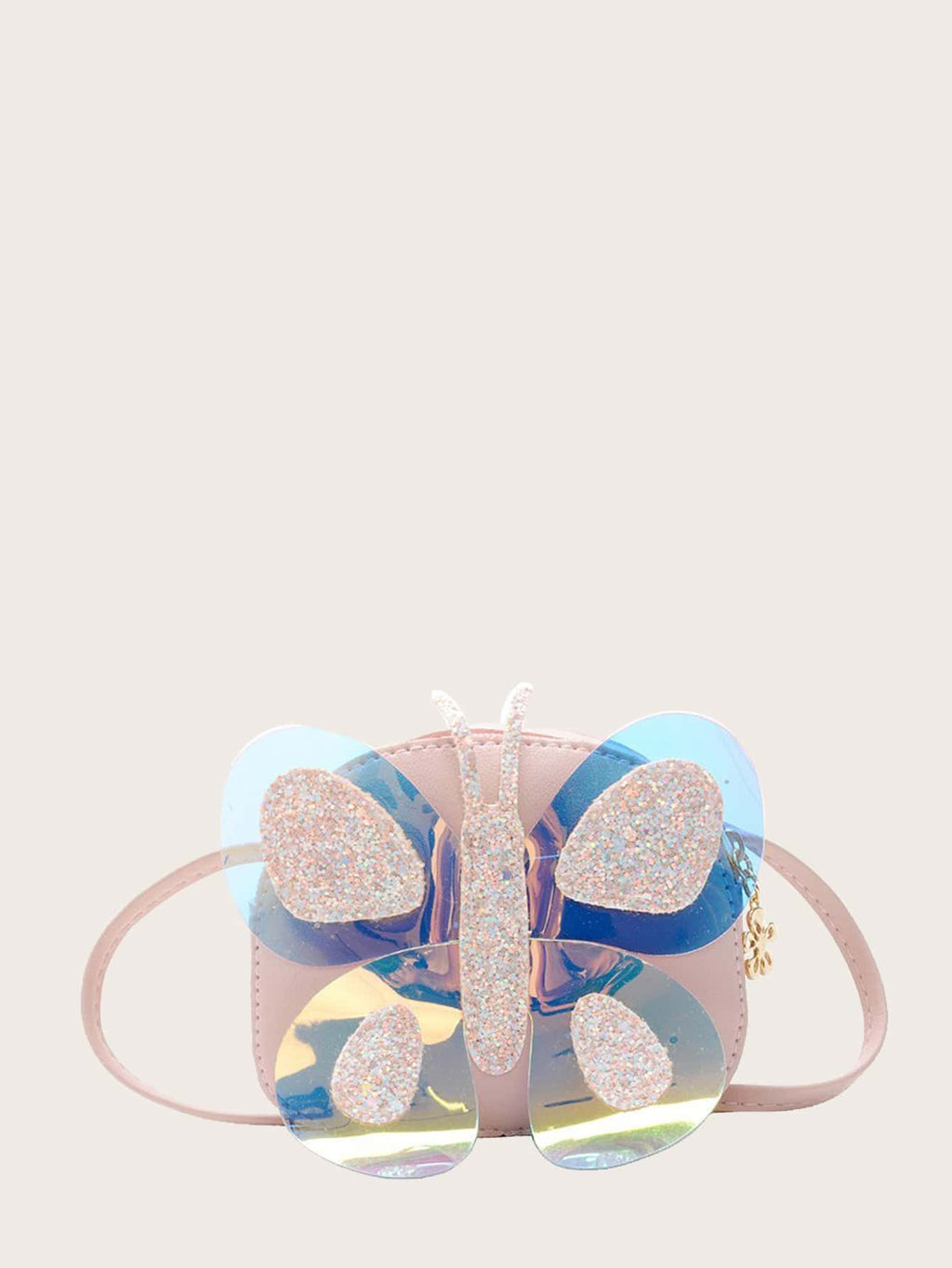 Girls Butterfly Appliques Crossbody Bag - FD