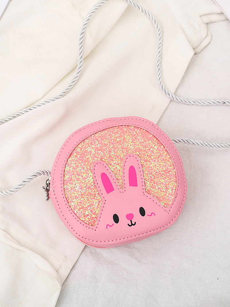 Girls Glitter Decor Crossbody Bag - FD