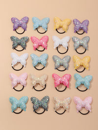 20pcs Toddler Girls Sequin Butterfly Hair Tie