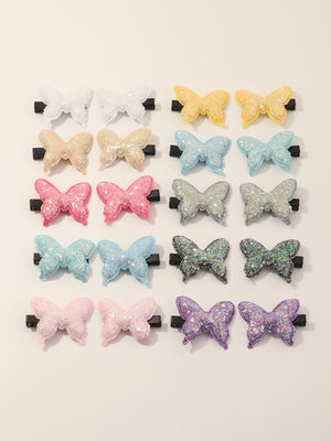 20pcs Toddler Girls Butterfly Decor Hair Clip