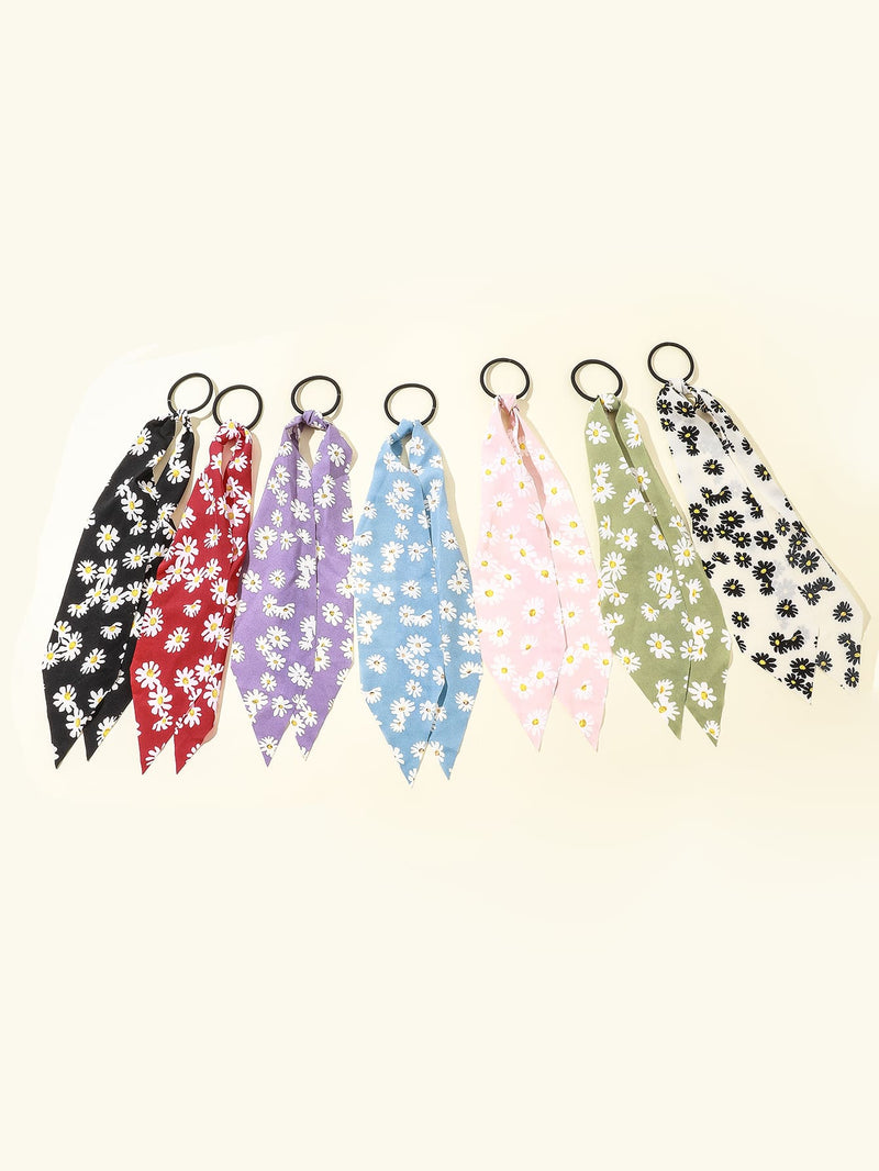 7pcs Girls Flower Pattern Hair Tie - FD