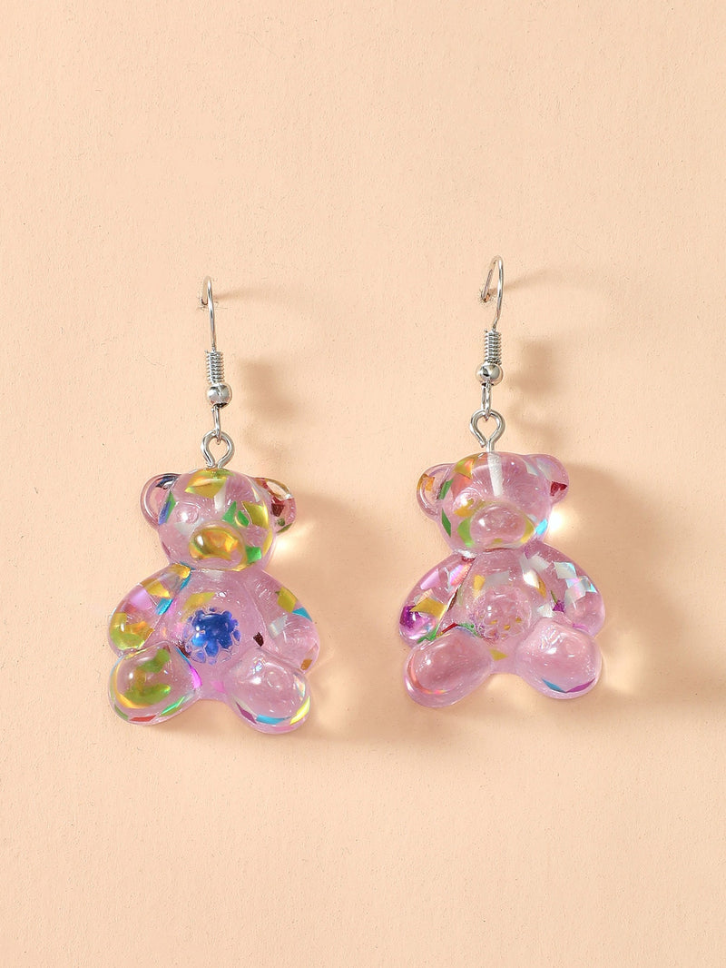 Girls Bear Drop Earrings