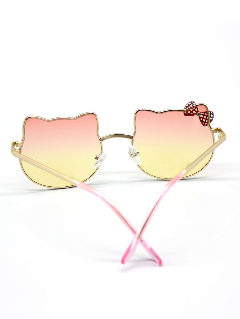 Toddler Kids Bow Decor Metal Frame Sunglasses